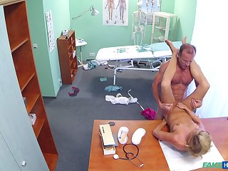After hours medical exam leads to hot infant getting dicked hard wide of her doc