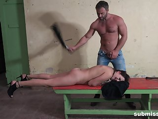 Person spanks his bitch then fucks her pest merciless