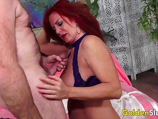 GoldenSlut - Older Ladies Show off Their Flannel Sucking Proficiency Compilation 11