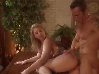 Excellent throwback office shacking up for shocking MILF Sunny Lane