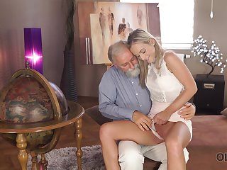 Old man wants to see Shanie Ryan's pussy together with lose concentration sexy girl is hardly shy