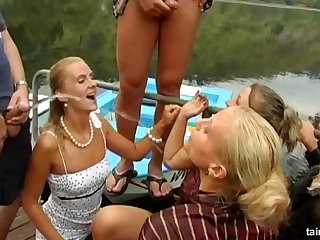 Wild outdoor fuck fest with piss drinking pornstars in HD video