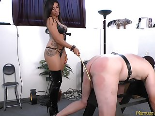 Dominant Mistress Tangent loves torturing her dutiful husband