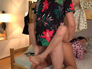 Man fucks these two roommates and cums on their easy touch