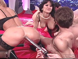 Large contrive making love session with lot of stunning pornstars like Asia Carrera