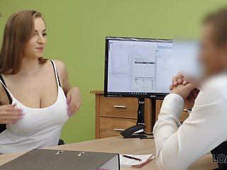 Student with D-cups boobs Suzie is ready for casual sex to get a loan