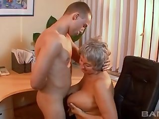 Amateur video of a mature slut having sex with her younger suitor
