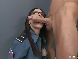Office fucking on hammer away floor with an increment of table with secretary Cytherea