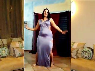 Heavy Egyptian woman blinking