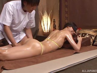 Nice fucking on get under one's massage table with amateur Sakurai Mika