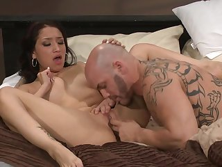 Bald guy fucks hot latina Teenage
