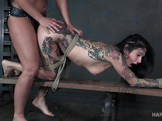 Legendary BDSM video working capital hot milfs Joanna Angel and London River