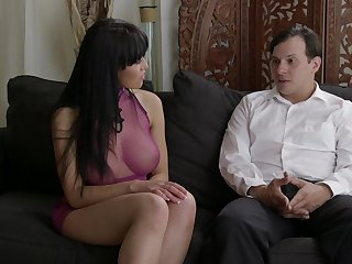 Asian MILF seems keen to insert this guy's dick in each of her holes