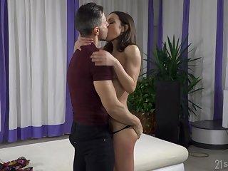 Brunette, Cum, Cumshot, Deepthroat, Facial, Pussy, Small tits