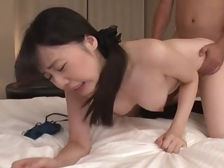 Energized mature newcomer disabuse of Japan filmed enduring young meat